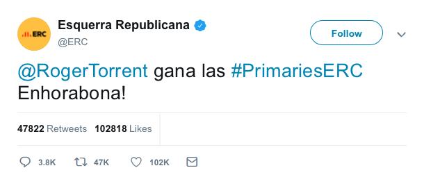 @Esquerra_ERC | Twitter oficial A3780710