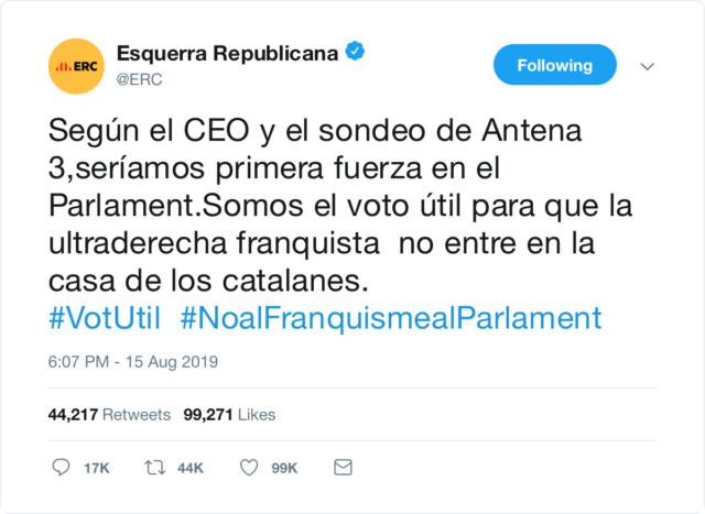 @Esquerra_ERC | Twitter oficial E8d71a10