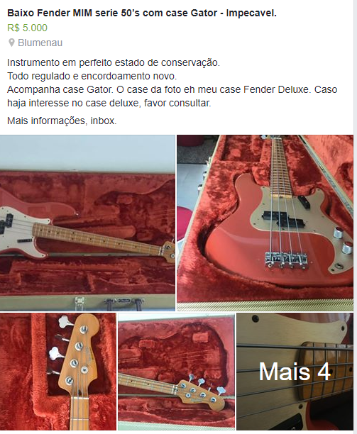 fender original ou replica Pb110
