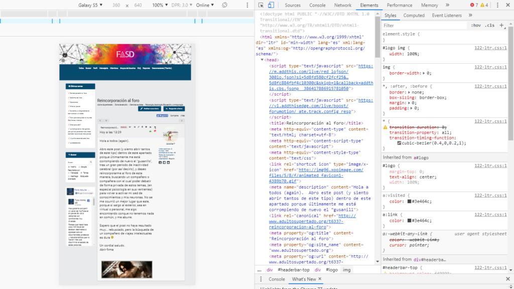 content-container - La hoja de estilos se aplica sólo al index - version movil max 360px Noseap10