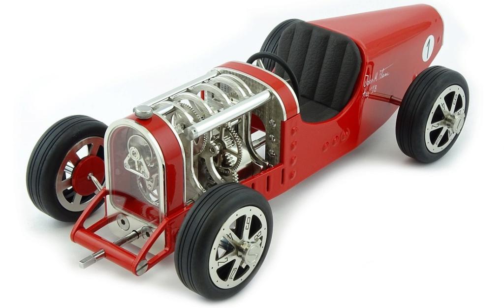 The CAR CLOCK - Mécanique d'art et automobile - John Mikaël Flaux Cc-red11