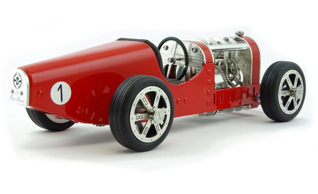 The CAR CLOCK - Mécanique d'art et automobile - John Mikaël Flaux Cc-red12