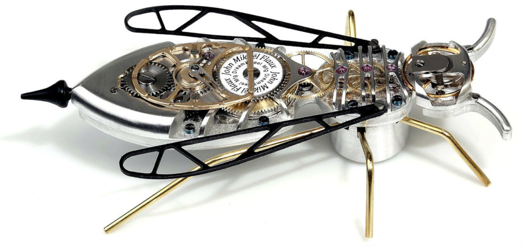 The CAR CLOCK - Mécanique d'art et automobile - John Mikaël Flaux Guepe-10