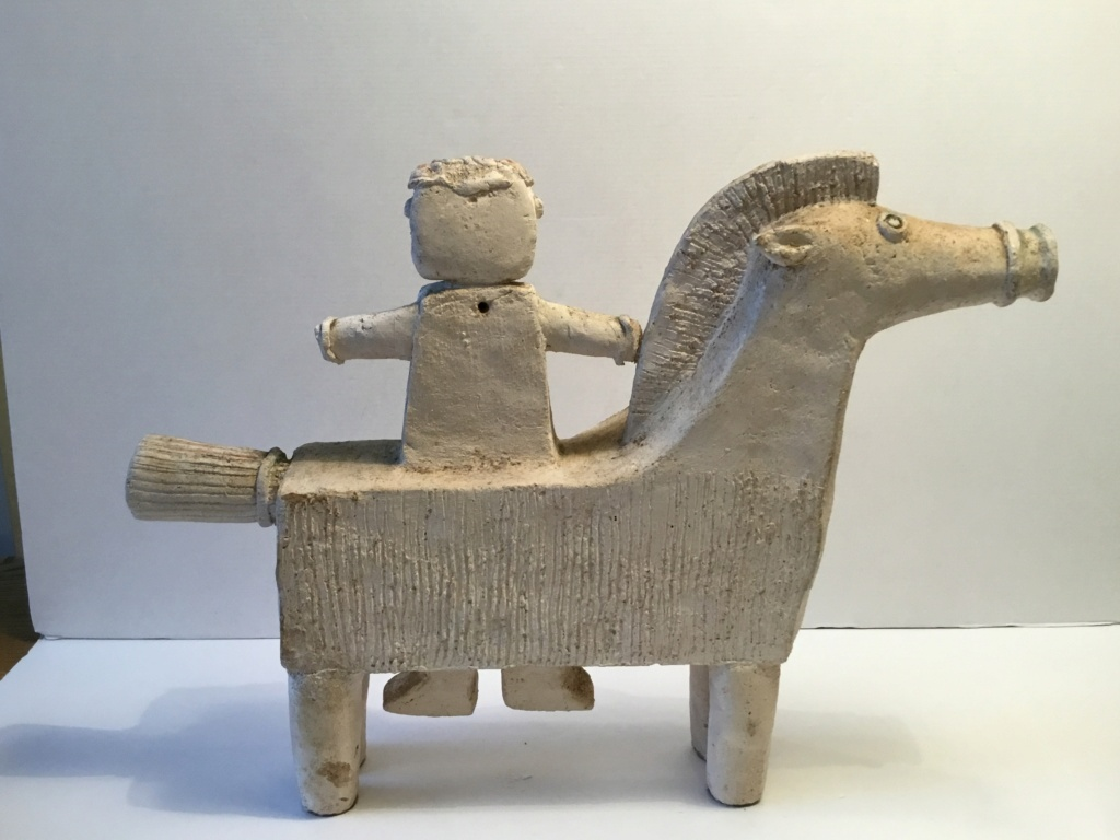 Horseman naive sculpture 01d1ae10