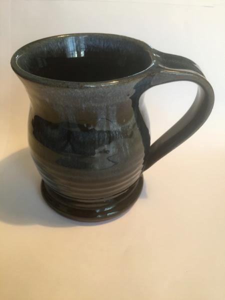 Decorated blue black studio cup - Elizabeth Bailey  03fd8810