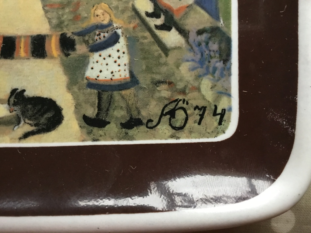 Cerramic wall plaque AB 1974, signed  03fefc10