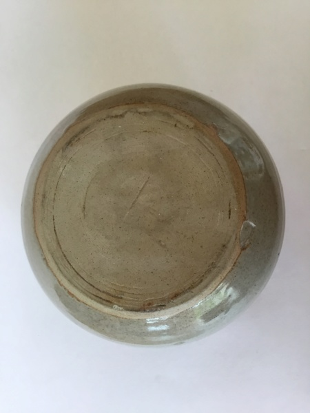 Stoneware globe studio fish vase 04caba10