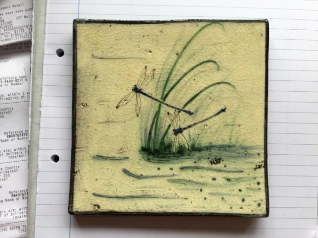 Studio pottery dragonfly tiles 06e88310