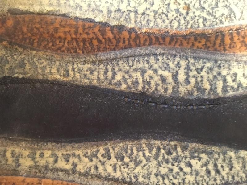 Very textured lava mid century dish 08817210