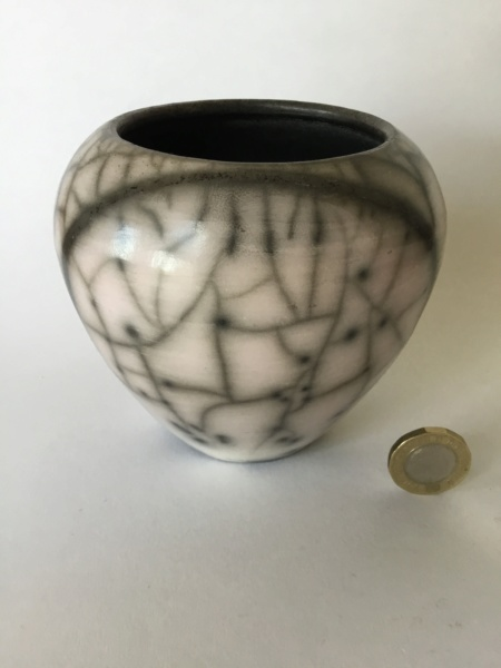 Raku studio vase, AD Mark 09d34410