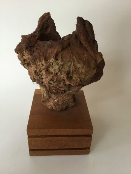 Moon rock sculptural piece on wood plinth 0a4b2910
