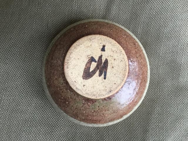 banded colours stoneware  studio bowl, marked 0b368710