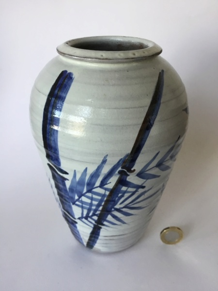 Studio baluster vase, bamboo decoration AR or FR mark 0e0a6b10