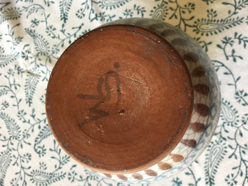 vase, crackle glaze, WS painted mark - maybe Schleiss Gmunden, Austria 11754910