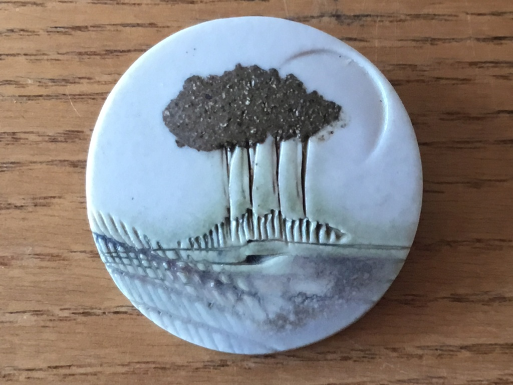 Porcelain landscape brooch. Paul Gooderham 12961410