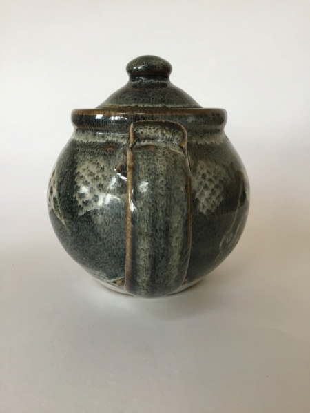 Stoneware studio teapot quail decoration - Chris Lewis  13aa1a10