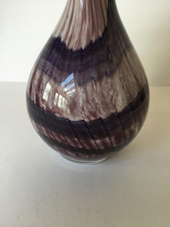 Studio Glass Vase Signed Hilary? 15432010