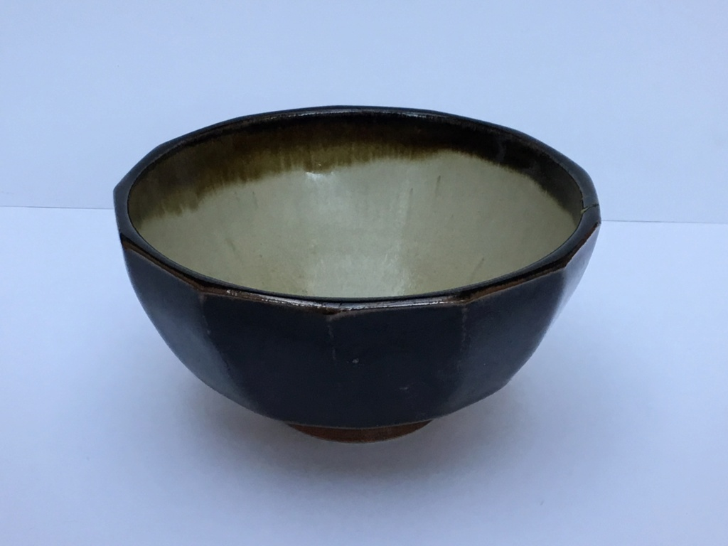 Studio stoneware cut sided bowl DC mark 1a220a10