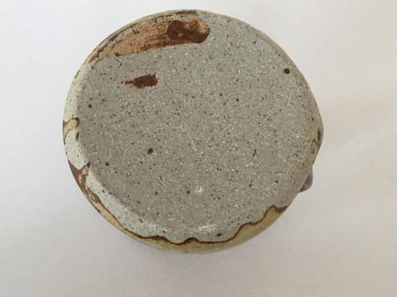 Tenmoku drip stoneware glaze jug, unmarked  1a6e4f10