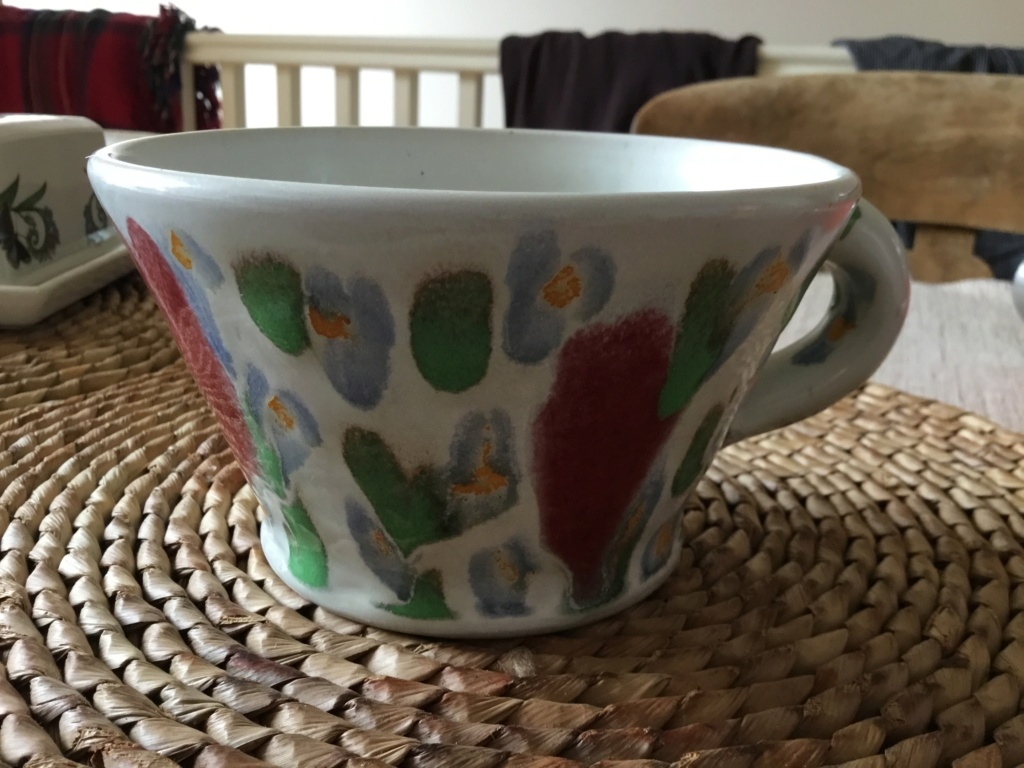 Colourful studio mug, line in circle mark - Clive Davies  1a8f4410