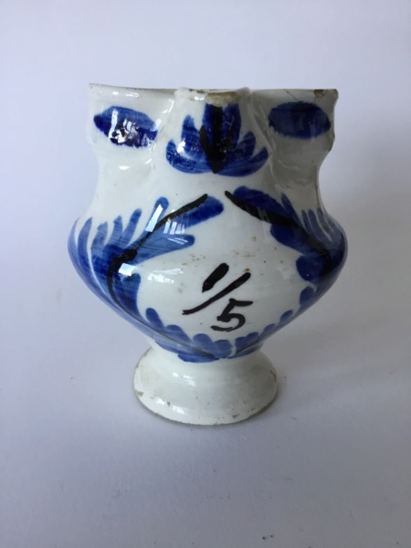 20th century or 18th? Tinglaze, French ? 1/5 measuring jug 1b4b1710