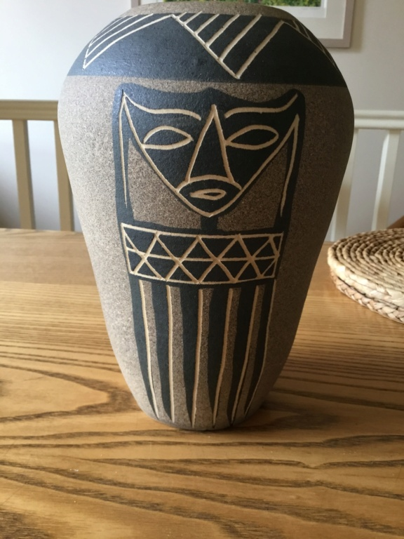 Vase, mask design, African influence JC or JL 1e392310