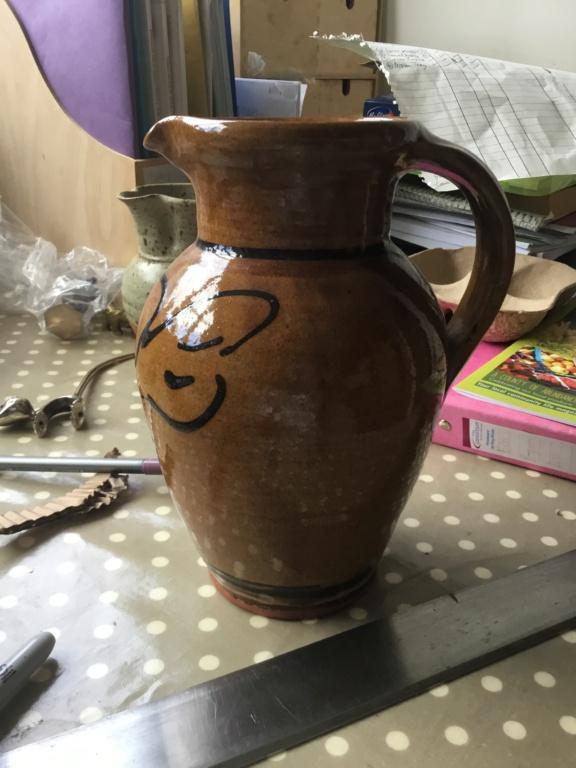 English Slipware bird decoration jug PL 93 mark 200bd310