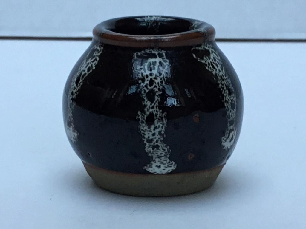 Miniature tenmoku vase, Japanese?  24441710