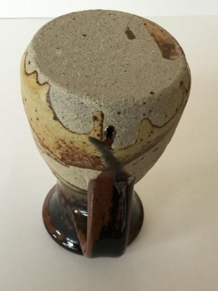 Tenmoku drip stoneware glaze jug, unmarked  25e47e10