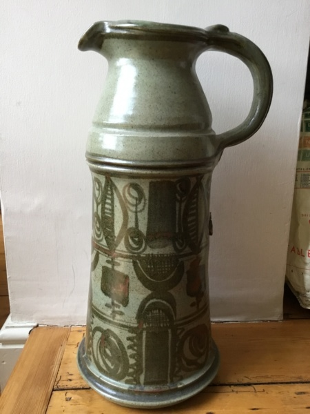 "Monster 19"" stoneware jug, AP or AD mark - Anthony Southwell, Aston Pottery 2b8b8c10"