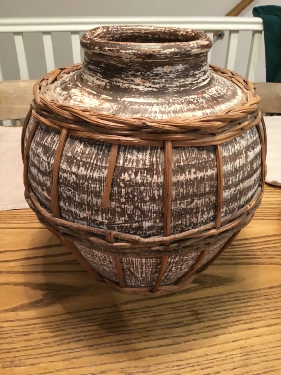 Large jar with basket cover 3071d010