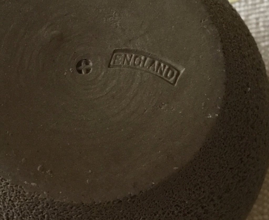 Brown candle holder like pumice, cross & ENGLAND 30b56f10