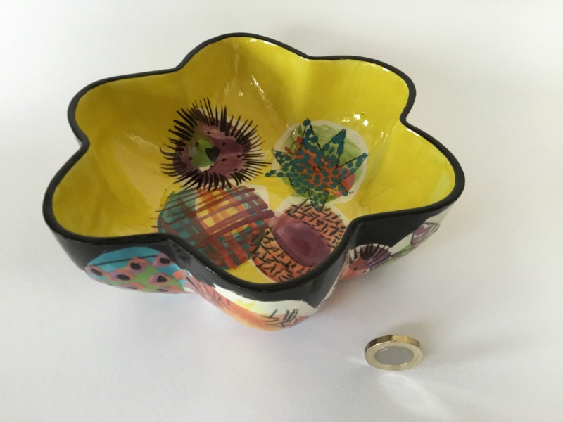 Wildly brightly coloured, Gwili Pottery style - Lorna Jackson Currie  34551210