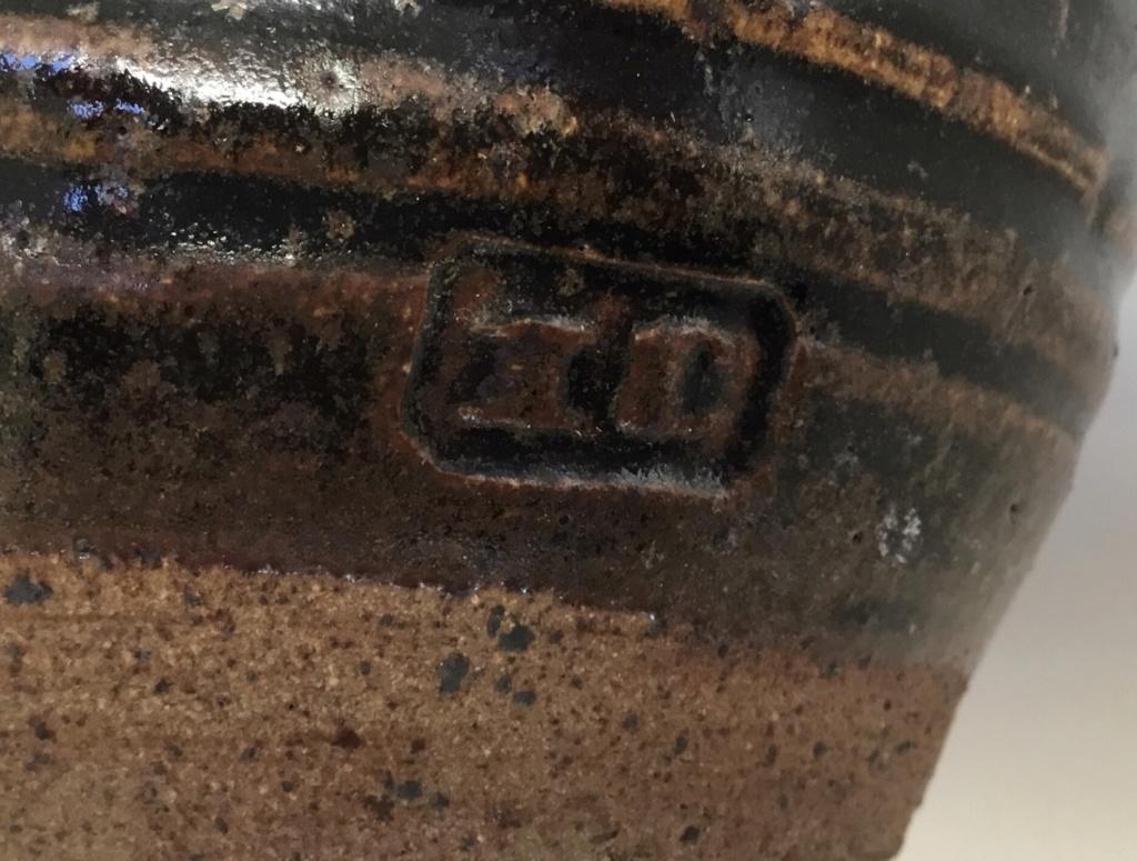 Tenmoku stoneware  jug, IC or TC impressed mark 34bc9f10