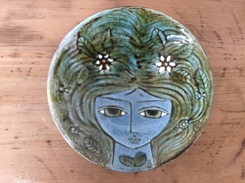 Flower woman shallow bowl, by Christina Sheppard, Chelsea 3bdfb910