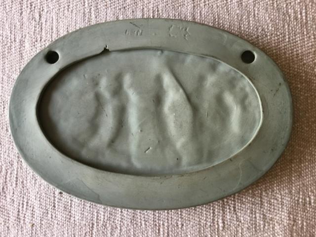 Green jasperware plaque musician & dancers 3ffd1e10
