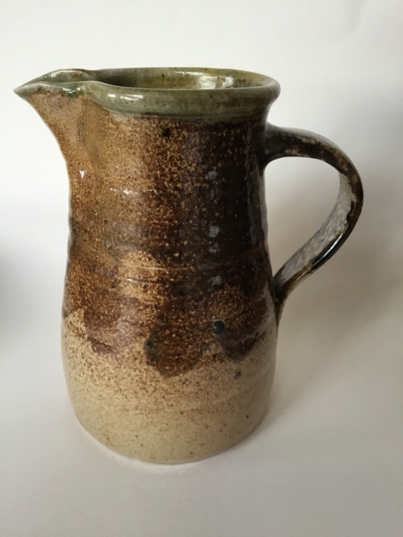 Studio jug, salt or soda glaze, impressed mark ML?  40137c10
