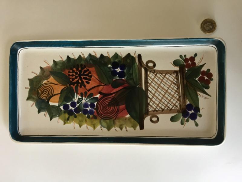 Italian or English? Rectangular flower basket dish 405c9d10