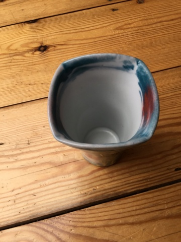Dartington Pottery Vase, unusual pattern, Tchalenko? 443c2f10