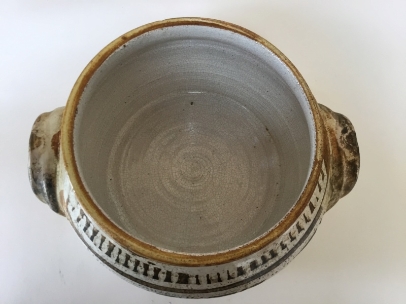 Casserole pot and lid,  marked Nolan CP? 4732b810