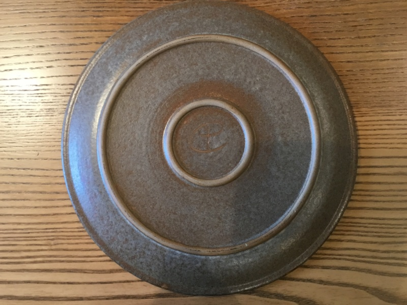 CP mark, flower plate - Crich Pottery  4a568c10