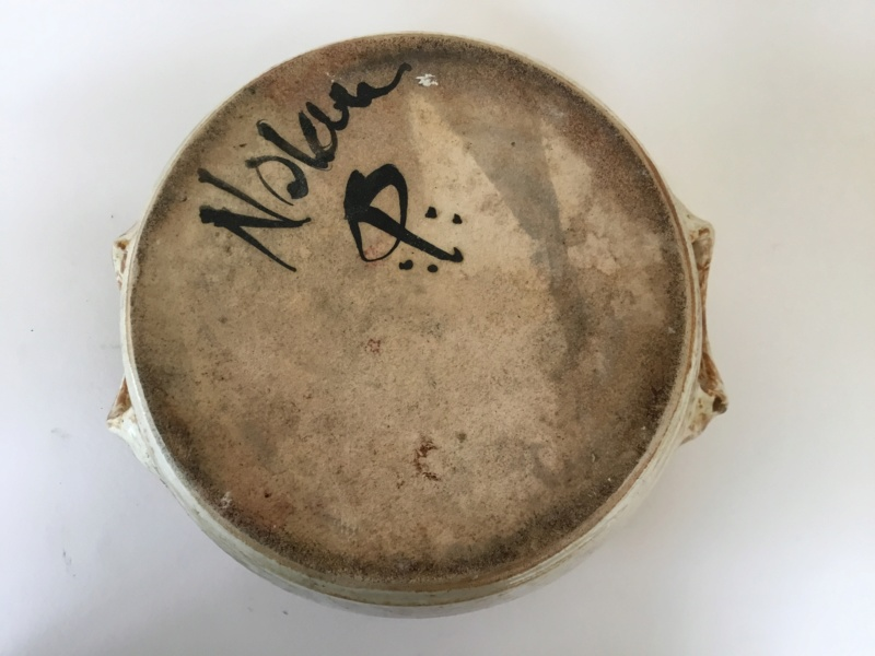 Casserole pot and lid,  marked Nolan CP? 52589b10