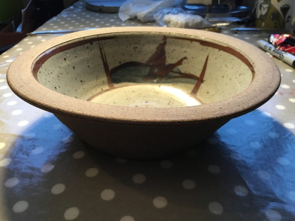Studio stoneware  bowl, mp mark 58ae9910
