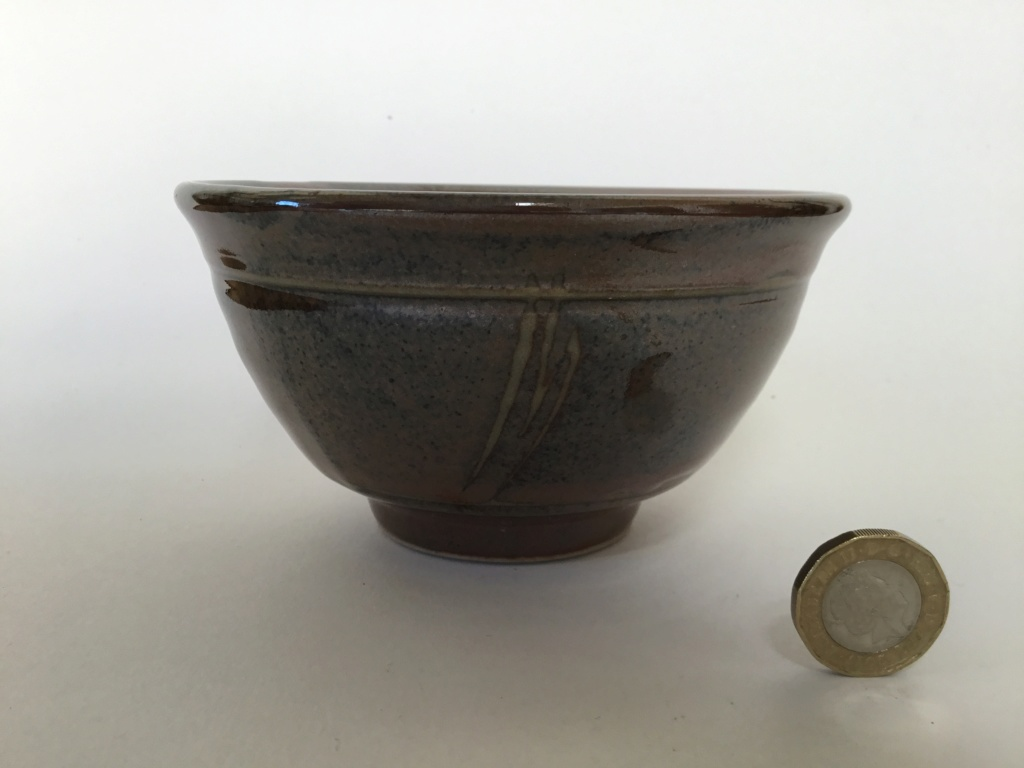 studio bowl, Tenmoku, decorated 5ff8c810