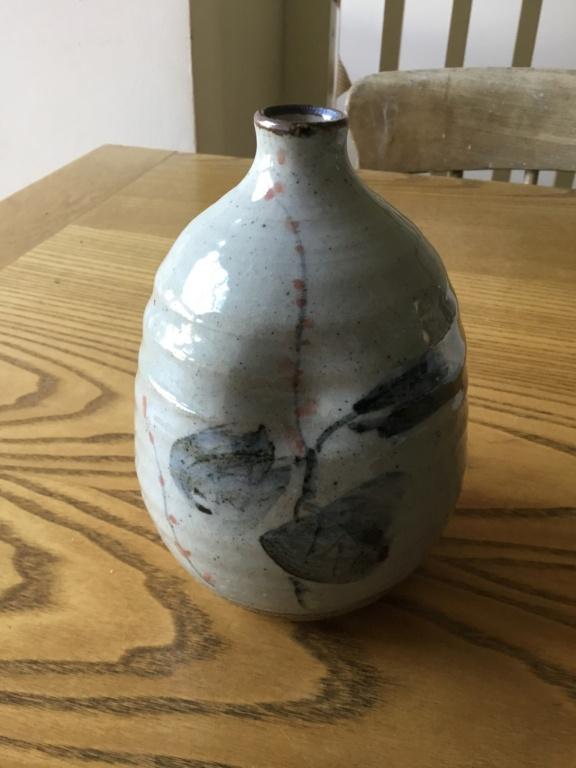 Stoneware studio vase, Japanese or Chinese mark?  616b1410