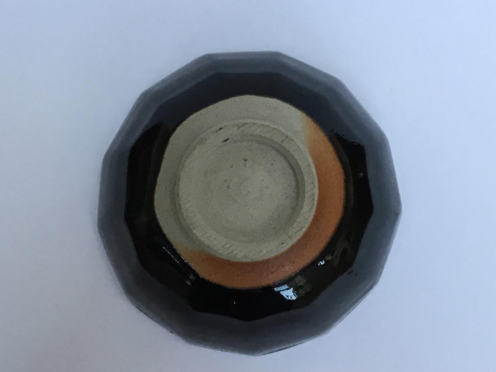 Studio stoneware cut sided bowl DC mark 64308a10