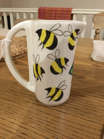 Bees and flowers signed jug - David Pantling, Nottingham  67976110