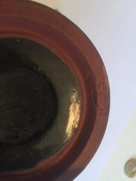 Decorated blue black studio cup - Elizabeth Bailey  69bb0910