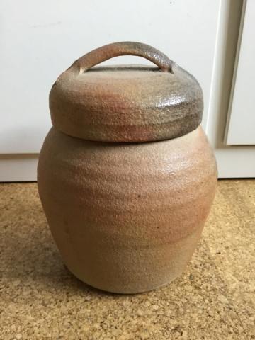 Wood fired Studio storage jar 69fbac10