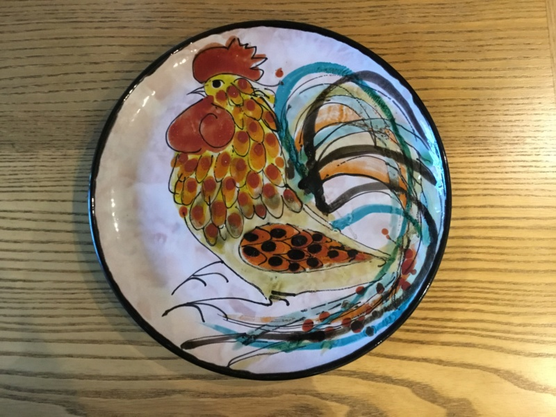 European cockerel studio plate - Le Brescon, Vallauris, France  6e8f6010